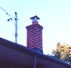 Rebuilt chimney and dyed morter to match house.